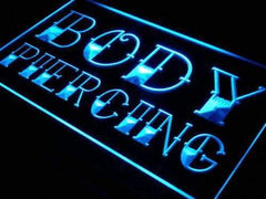 Body Piercing LED Neon Light Sign