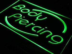Body Piercing Studio Neon Sign (LED)-Way Up Gifts
