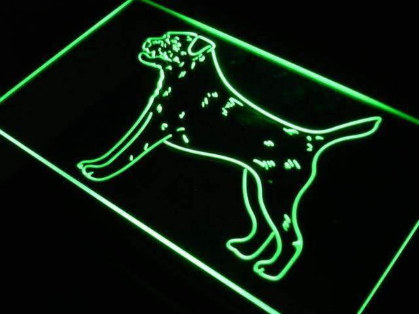 Border Terrier Neon Sign (LED)-Way Up Gifts