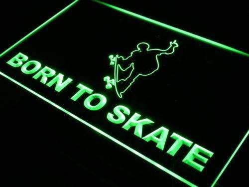 Born to Skate Skateboard LED Neon Light Sign - Way Up Gifts