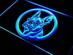 Boston Terrier Head Neon Sign (LED)-Way Up Gifts