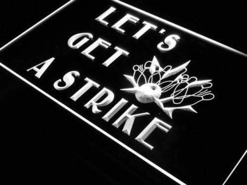 Bowling Let's Get a Strike LED Neon Light Sign - Way Up Gifts