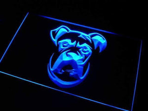 Boxer Dog Head Neon Sign (LED)-Way Up Gifts