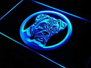 Boxer Dog Neon Sign (LED)-Way Up Gifts