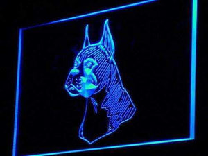 Boxer Dog Pet Head Neon Sign (LED)-Way Up Gifts