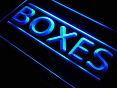 Boxes Shop Shipping Gifts LED Neon Light Sign