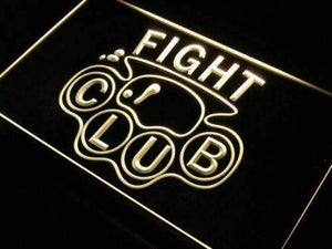 Brass Knuckles Fight Club Neon Sign (LED)-Way Up Gifts
