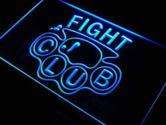 Brass Knuckles Fight Club LED Neon Light Sign