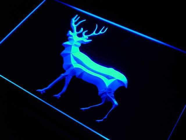 Buck Deer Neon Sign (LED)-Way Up Gifts
