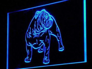 Bulldog Pet Neon Sign (LED)-Way Up Gifts