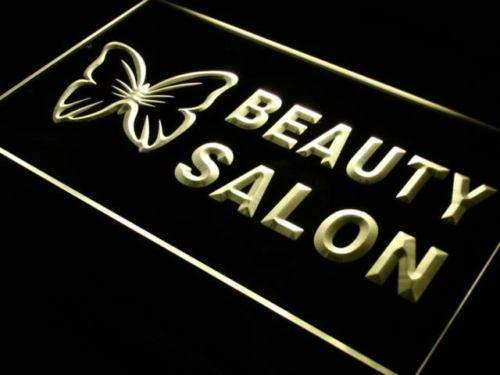 Butterfly Beauty Salon LED Neon Light Sign  Business > LED Signs > Barber & Salon Neon Signs - Way Up Gifts