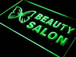 Butterfly Beauty Salon Neon Sign (LED)-Way Up Gifts