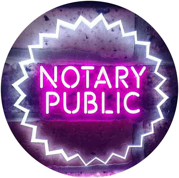 Notary Public LED Neon Light Sign - Way Up Gifts