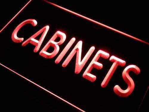 Cabinets Neon Sign (LED)-Way Up Gifts
