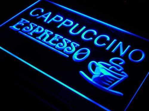 Cafe Cappuccino Espresso Neon Sign (LED)-Way Up Gifts