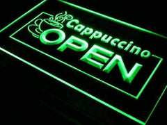 Cafe Cappuccino Open LED Neon Light Sign