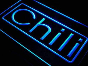 Cafe Chili Neon Sign (LED)-Way Up Gifts