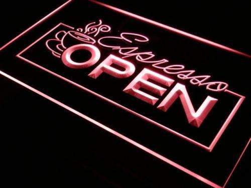 Cafe Espresso Open Neon Sign (LED)-Way Up Gifts