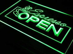 Cafe Espresso Open LED Neon Light Sign