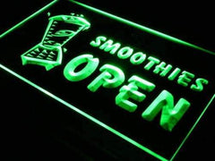 Cafe Smoothies Open LED Neon Light Sign