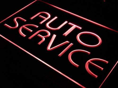 Car Auto Service Neon Sign (LED)-Way Up Gifts