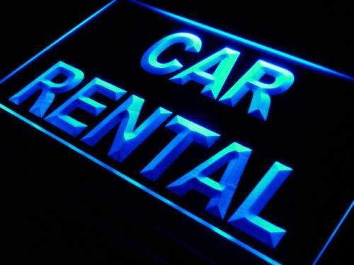 Car Rental Neon Sign (LED)-Way Up Gifts