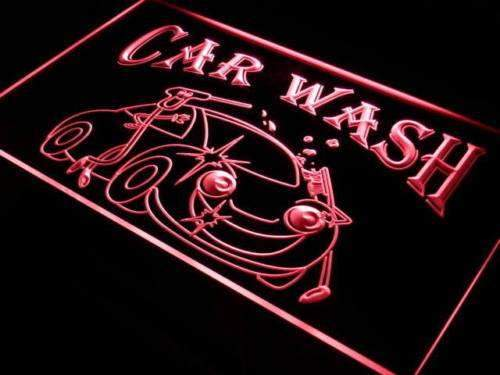 Car Wash Neon Sign (LED)-Way Up Gifts