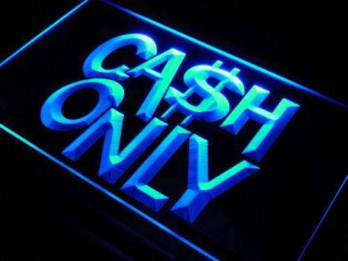 Cash Only LED Neon Light Sign - Way Up Gifts
