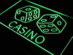 Casino Dice Neon Sign (LED)-Way Up Gifts