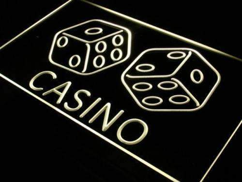 Casino Dice LED Neon Light Sign - Way Up Gifts