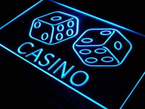 Casino Dice Neon Sign (LED)