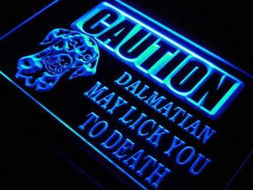 Caution Dalmatian LED Neon Light Sign - Way Up Gifts