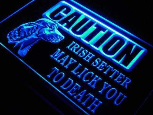 Caution Irish Setter LED Neon Light Sign - Way Up Gifts