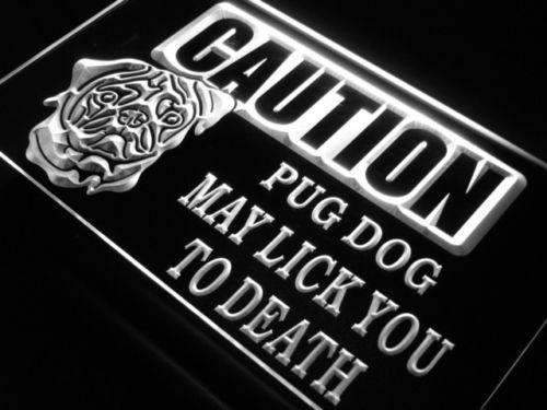Caution Pug LED Neon Light Sign - Way Up Gifts