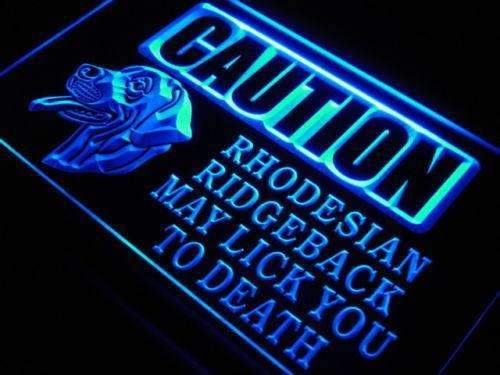 Caution Rhodesian Ridgeback LED Neon Light Sign - Way Up Gifts