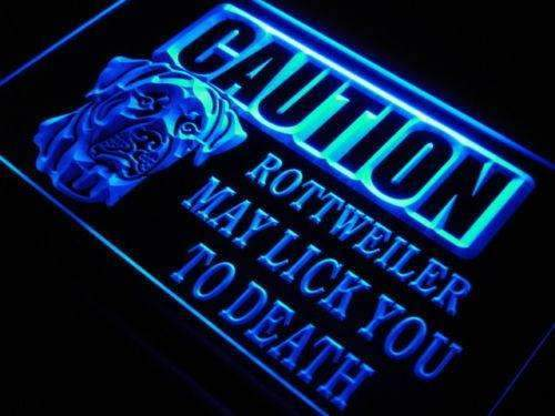 Caution Rottweiler LED Neon Light Sign  Business > LED Signs > Dog Neon Signs - Way Up Gifts