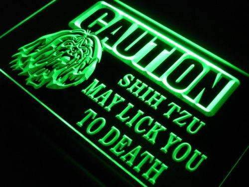 Caution Shih Tzu LED Neon Light Sign  Business > LED Signs > Dog Neon Signs - Way Up Gifts