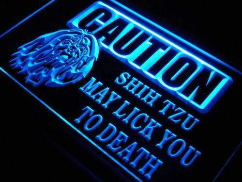 Caution Shih Tzu LED Neon Light Sign - Way Up Gifts
