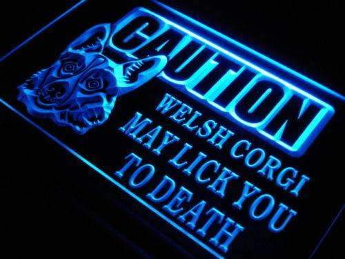 Caution Welsh Corgi LED Neon Light Sign - Way Up Gifts