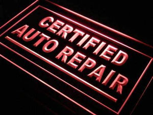 Certified Auto Repair Shop Neon Sign (LED)-Way Up Gifts