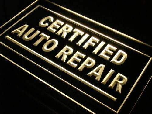 Certified Auto Repair Shop LED Neon Light Sign - Way Up Gifts