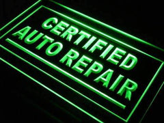 Certified Auto Repair Shop LED Neon Light Sign