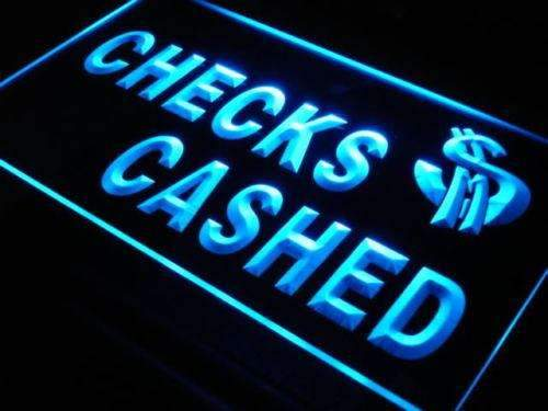Checks Cashed LED Neon Light Sign - Way Up Gifts