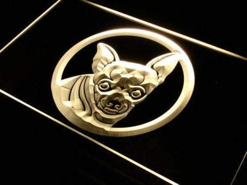 Chihuahua Neon Sign (LED)-Way Up Gifts