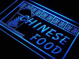 Chinese Food Restaurant Neon Sign (LED)-Way Up Gifts