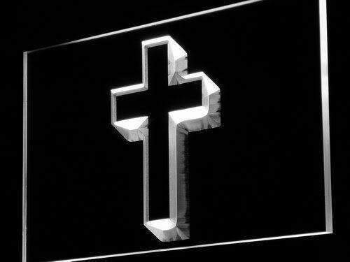 Christian Cross Home Decor LED Neon Light Sign - Way Up Gifts