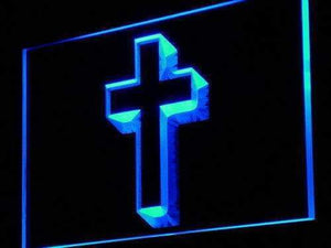 Christian Cross Home Decor Neon Sign (LED)-Way Up Gifts