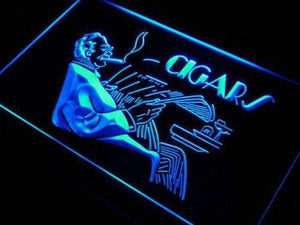 Cigar Lounge Neon Sign (LED)-Way Up Gifts