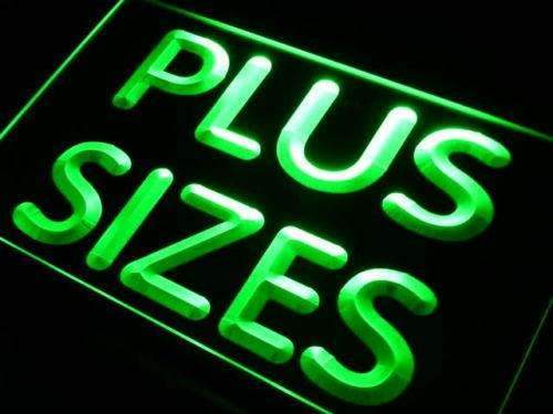 Clothing Plus Sizes Neon Sign (LED)-Way Up Gifts