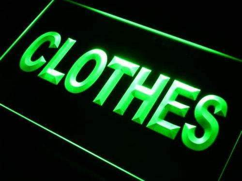 Clothing Shop Clothes LED Neon Light Sign - Way Up Gifts
